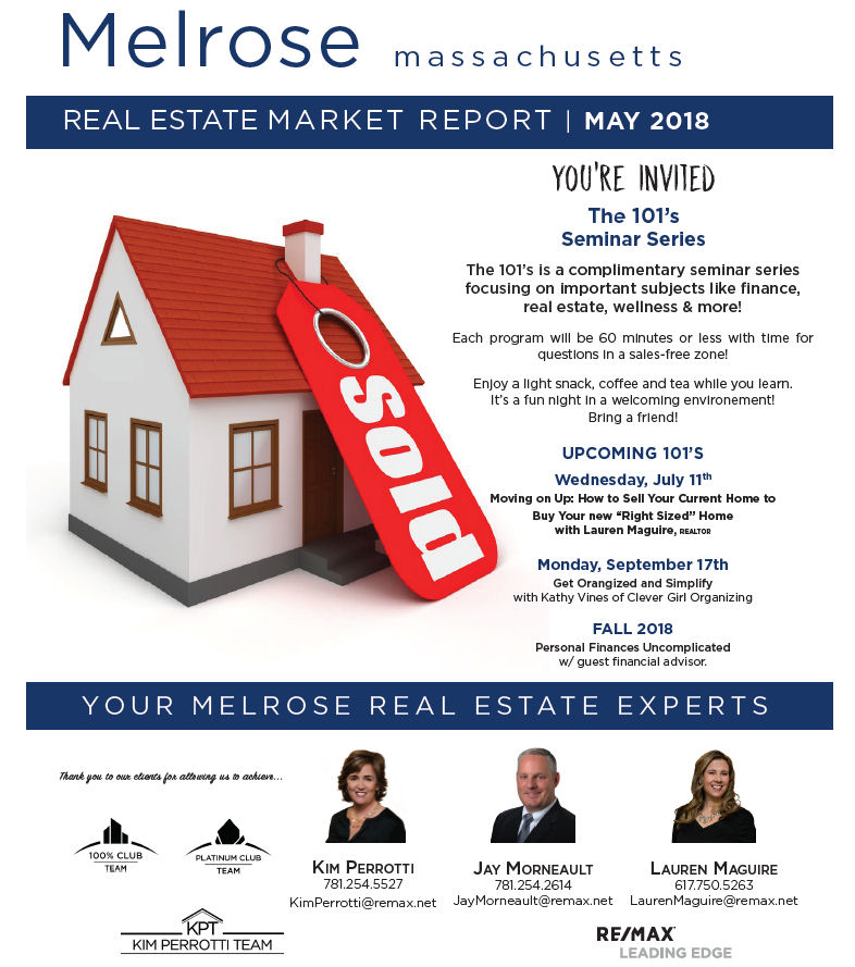 Melrose MA Real Estate Market Report - May 2018 p1
