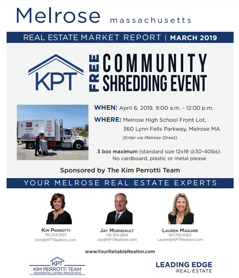 Melrose MA Real Estate Market Report - March 2019 p1