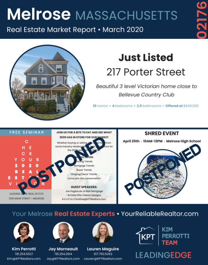 Melrose MA Real Estate Market Report - March 2020 p1