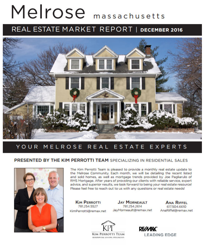 Melrose MA Real Estate Market Report - December 2016