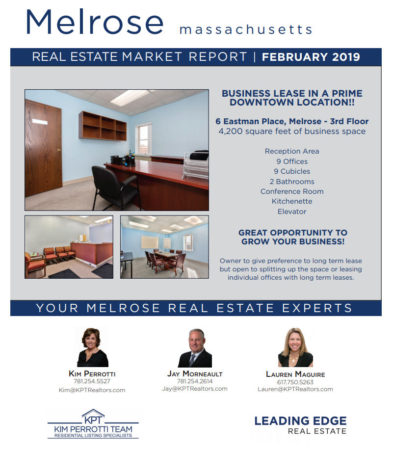 Melrose MA Real Estate Market Report - February 2019 p1