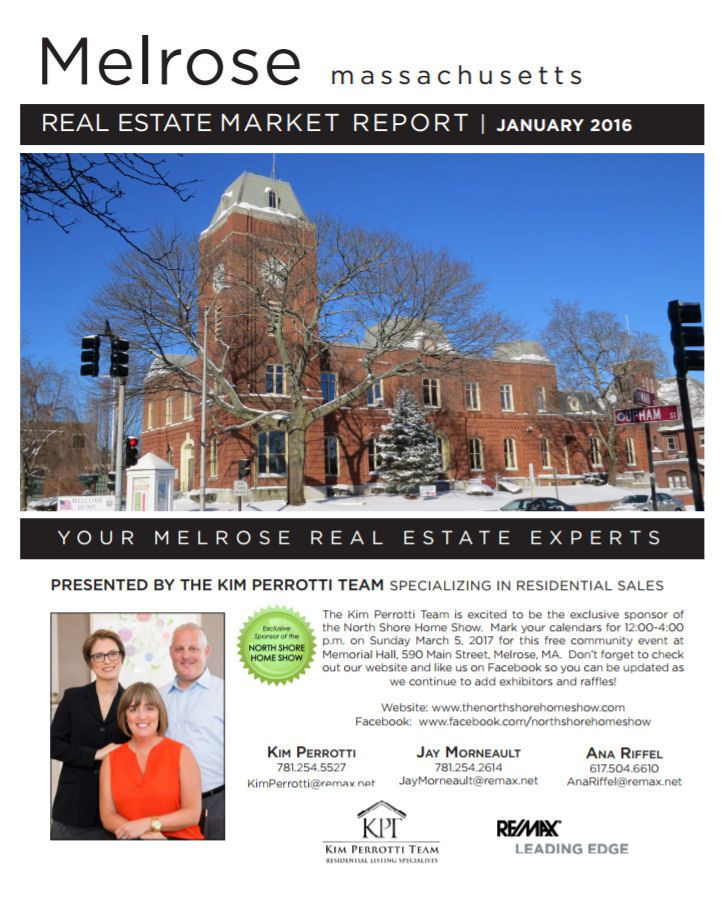 Melrose MA Real Estate Market Report - January 2017