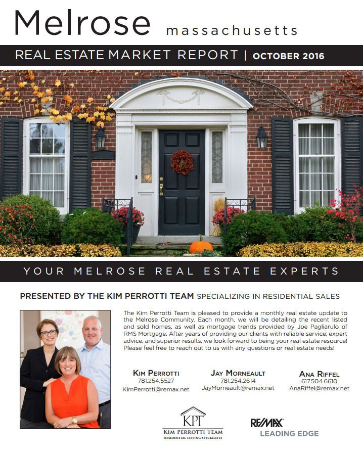 Melrose MA Real Estate Market Report - October 2016