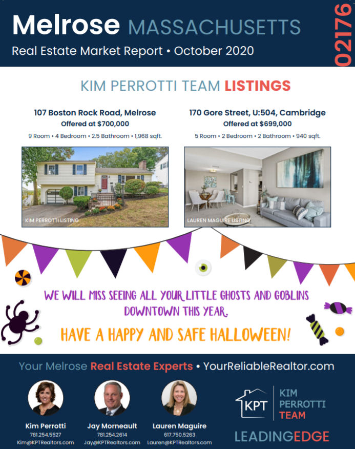 Melrose MA Real Estate Market Report - October 2020 p1