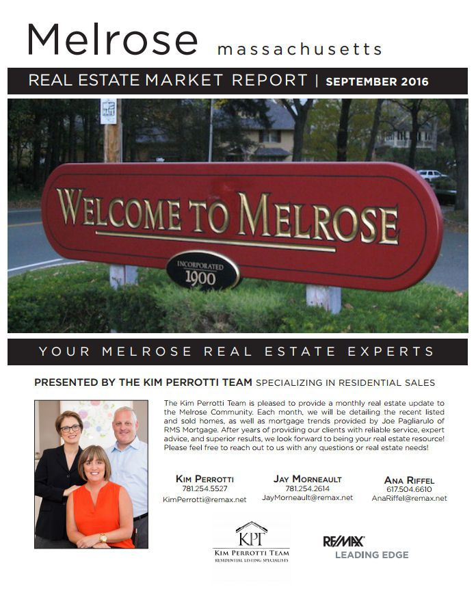 Melrose MA Real Estate Market Report - September 2016