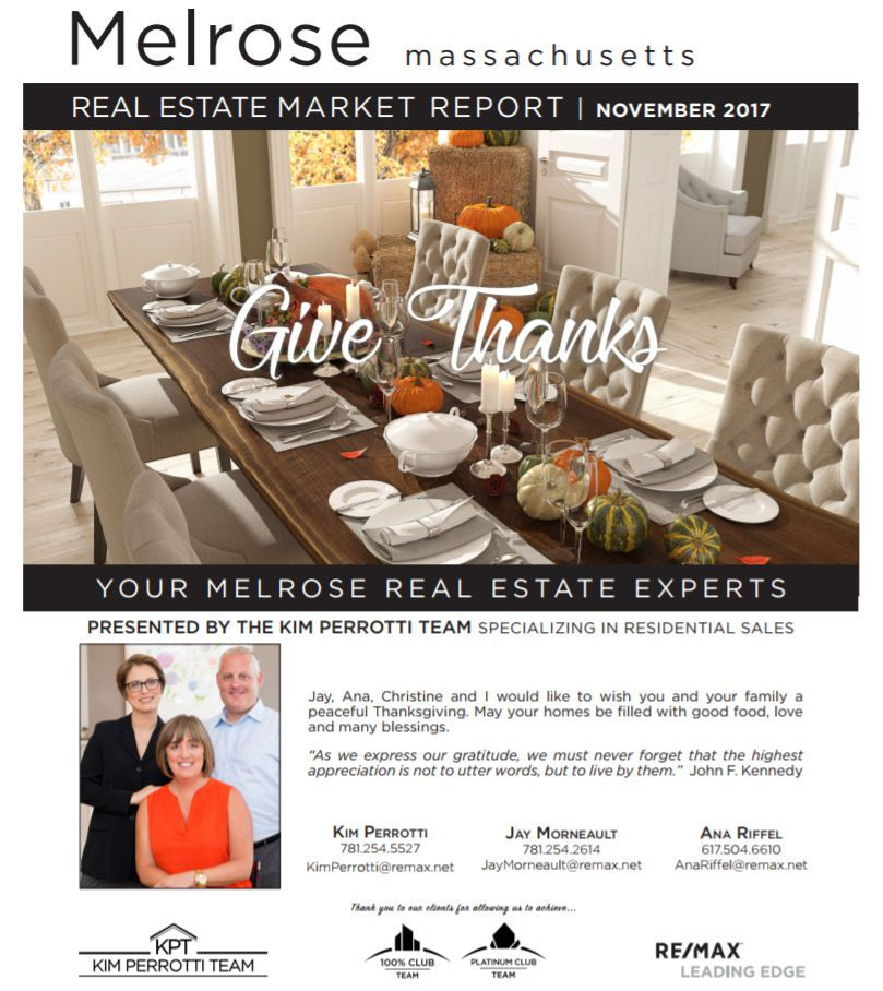 Melrose MA Real Estate Market Report - November 2017 p1
