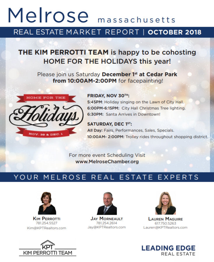 Melrose MA Real Estate Market Report - October 2018 p1