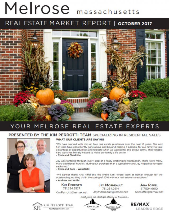 Melrose MA Real Estate Market Report - October 2017 p1