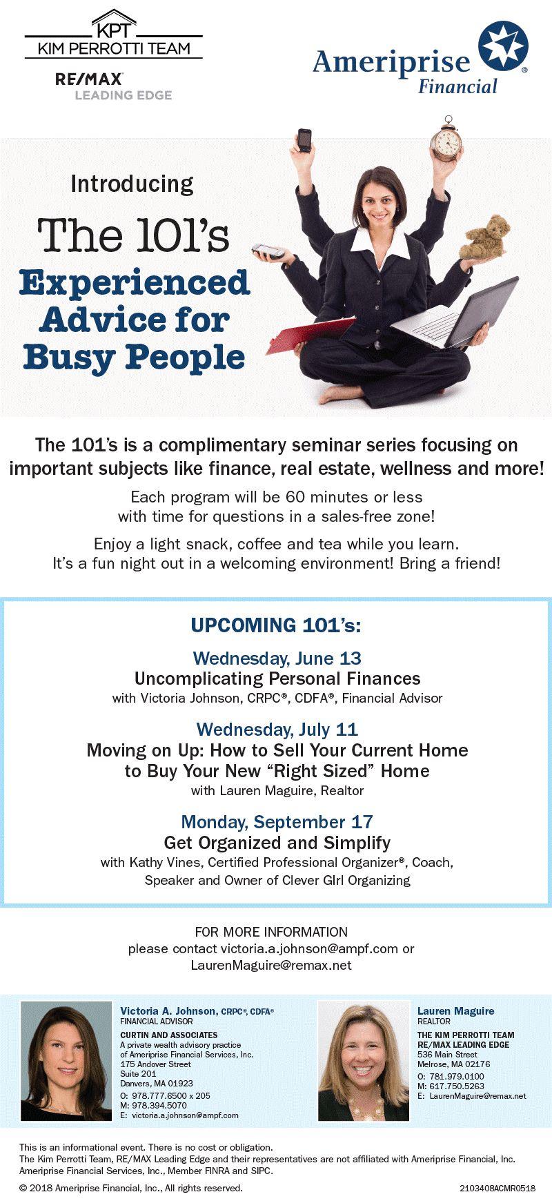 Seminar Series - The 101's