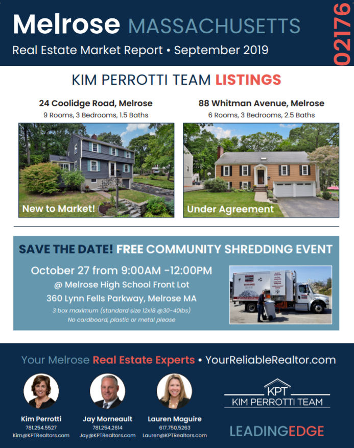 Melrose MA Real Estate Market Report - September 2019