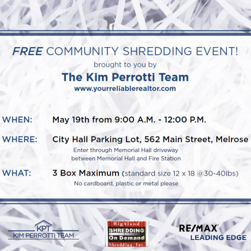 Free shredding event - The Kim Perrotti Team - RE/MAX Leading Edge