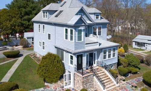 Four bedroom Colonial Victorian for sale in Wakefield, MA - exterior view of home shown