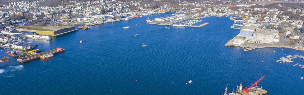 arial view of Cape Ann