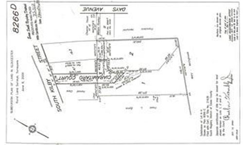 Proposed Plot Plan drawing of land for sale