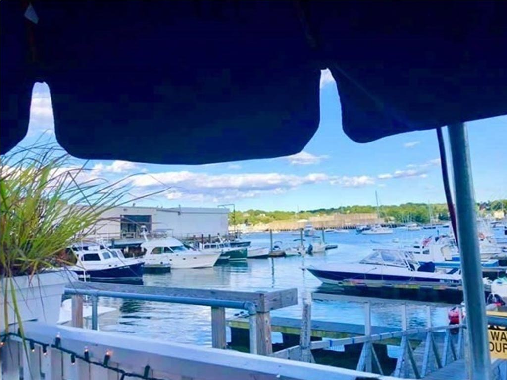 Gloucester Harbor Loop as seen from a table at the restaurant for sale