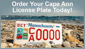 Cape Ann License Plate