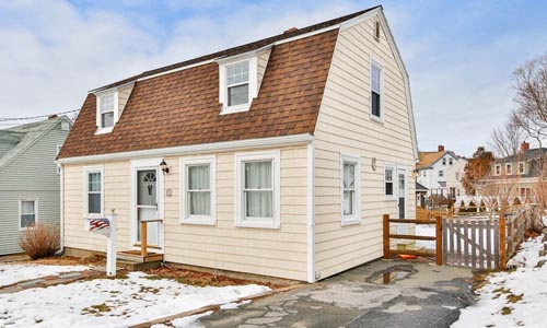 Two bedroom single family for rent in Gloucester MA - exterior of property shown