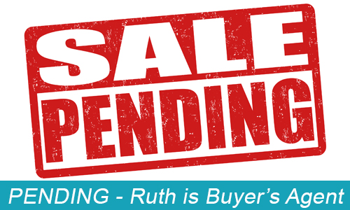 red and white sale pending sign
